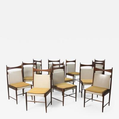 Sergio Rodrigues Set of 12 Mid Century Modern Cantu Alta Tall Chairs by Sergio Rodrigues 1950s