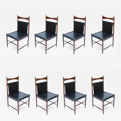 Sergio Rodrigues Set of 1960s Brazilian Jacaranda Cantu Chairs by Sergio Rodrigues