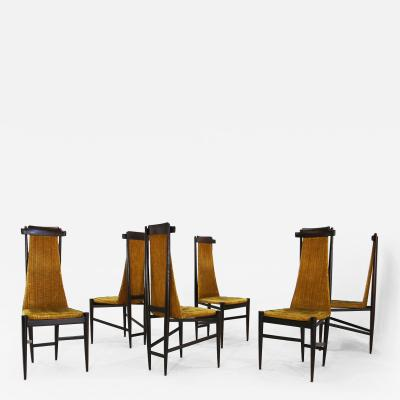 Sergio Rodrigues Set of 6 sergio rodrigues chairs for Isa Bergamo from 1950