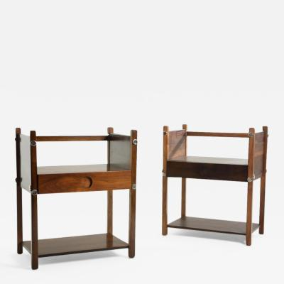 Sergio Rodrigues Set of Two Mid Century Modern Bedside Tables Yara by Sergio Rodrigues Brazil