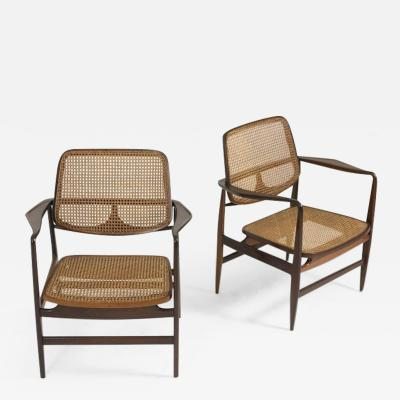 Sergio Rodrigues Set of Two Mid Century Modern Oscar Armchairs by Sergio Rodrigues Brazil 1956