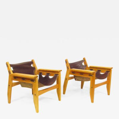 Sergio Rodrigues Two 1970s Kilin Lounge Chairs By Sergio Rodrigues for OCA