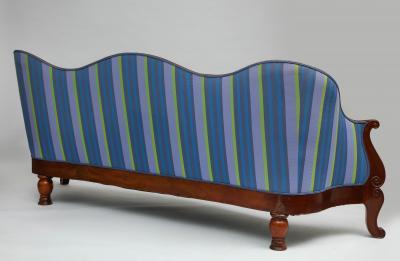 Serpentine mahogany sofa