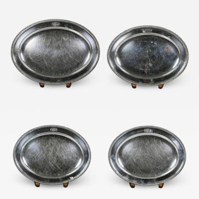 Set Of Four Regency Silver Plated Platters By Matthew Boulton