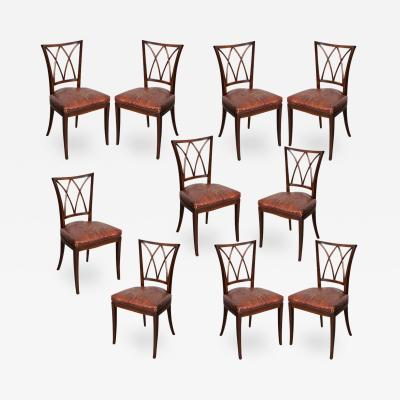 Set of 10 19th Century English Mahogany Dining Chairs