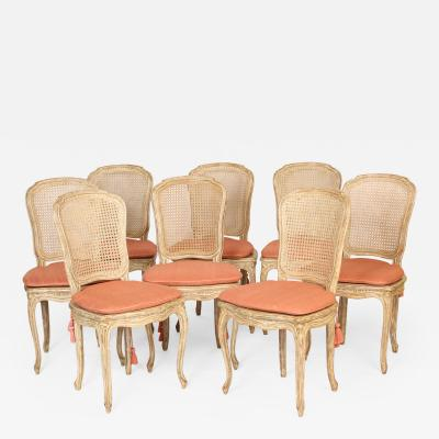Set of 10 Louis XV Style Painted Dining Room Chairs
