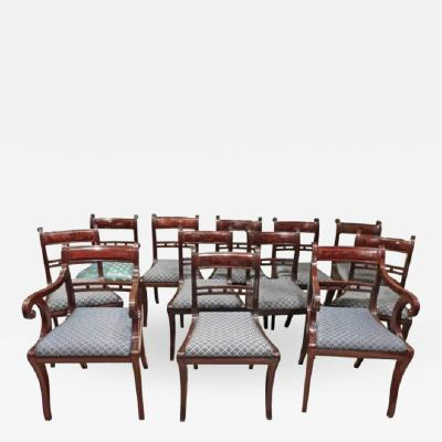 Set of 12 Classical Klismos Dining Chairs