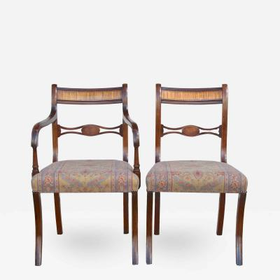 Set of 12 English Regency Dining Chairs