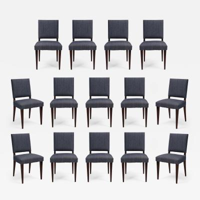 Set of 14 mid century mahogany dining chairs style of Dunbar