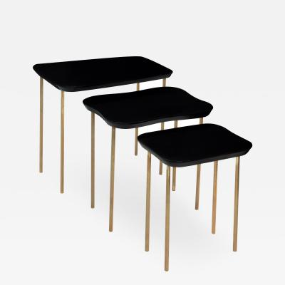 Set of 3 Free Form Nesting Tables by Charak Modern
