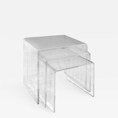 Set of 3 Lucite Nesting Tables 1970s
