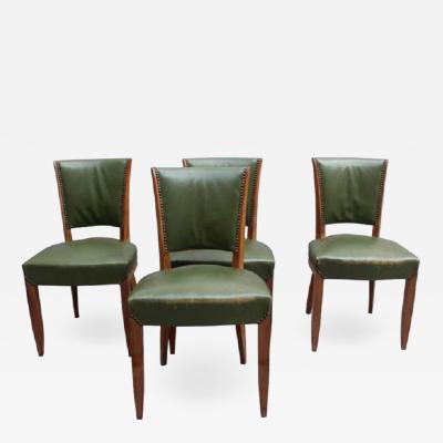 Set of 4 Fine French Art Deco Rosewood Chairs 4 Matching Armchairs Available