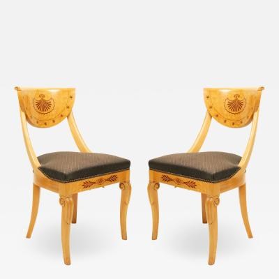 Set of 4 French Charles X Maple Chairs