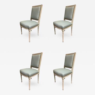 Set of 4 Louis XVI Side Chairs Circa 1780