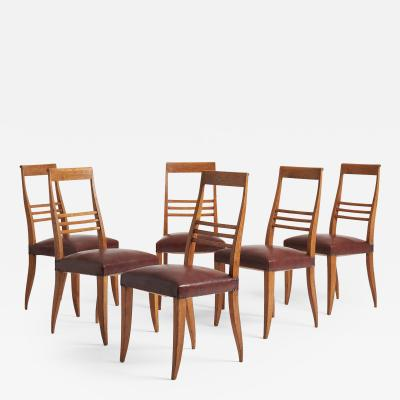 Set of 6 Art Deco Dining Chairs