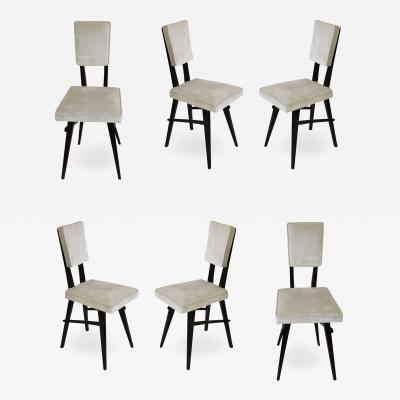 Set of 6 Chairs In The Style Of The School Of Turin Italy from 50s