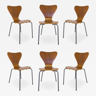 Set of 6 Danish Modern Bentwood Dining Chairs