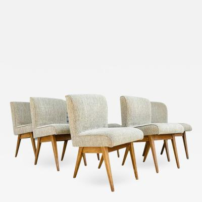 Set of 6 Dining Chairs in the Style of Jens Risom