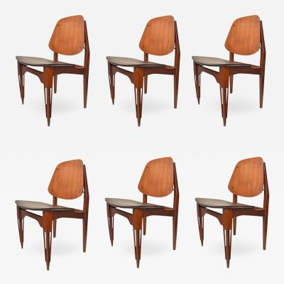 Set of 6 Fratelli Proserpio design chairs