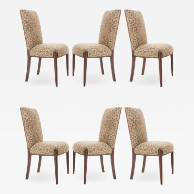 Set of 6 Reproduction Walnut and Needlepoint Chairs
