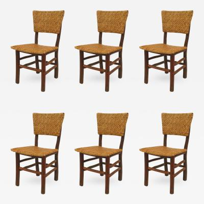 Set of 6 Rustic Old Hickory Side Chairs