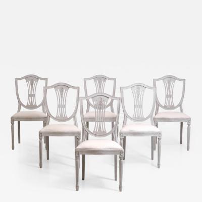 Set of 6 Swedish chairs circa 100 years old