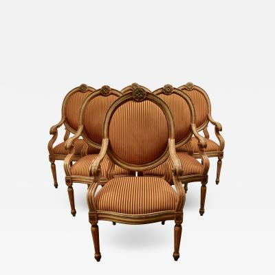 Set of 6 Venetian Arm Chairs