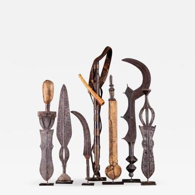 Set of 7 tribal knives DRC Shi Ngombe People