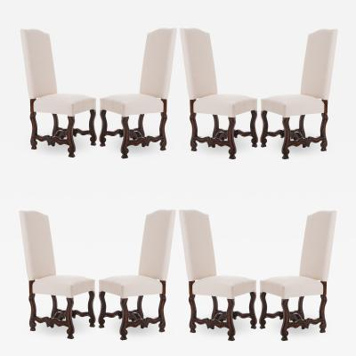 Set of 8 French Reproduction Mouton Dining Chairs