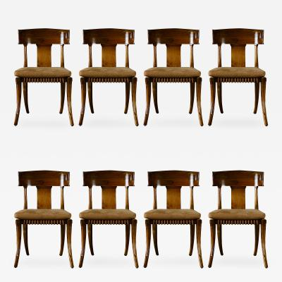 Set of 8 Klismos Style Dining Chairs