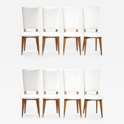 Set of 8 Mid century Scandinavian teak chairs 1960s
