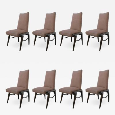 Set of 8 Midcentury Walnut Dining Chairs