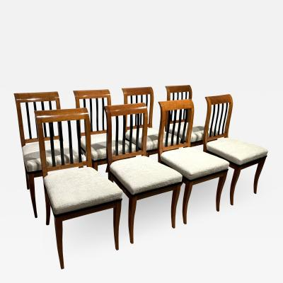 Set of 8 Neoclassical Biedermeier Chairs Walnut South Germany circa 1825