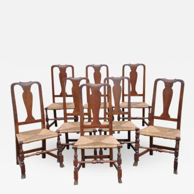 Set of 8 Queen Anne Chairs