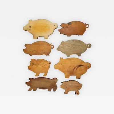 Set of 8 Vintage Piggy Cutting Boads