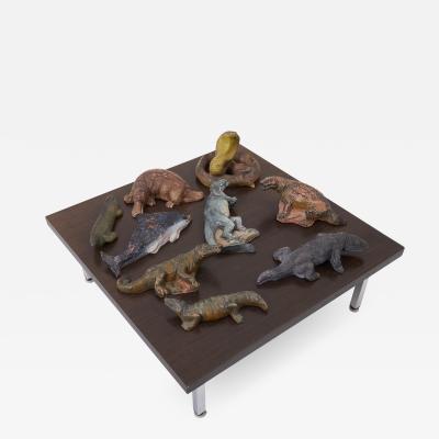 Set of 9 Biology Animal Sculptures 1940s