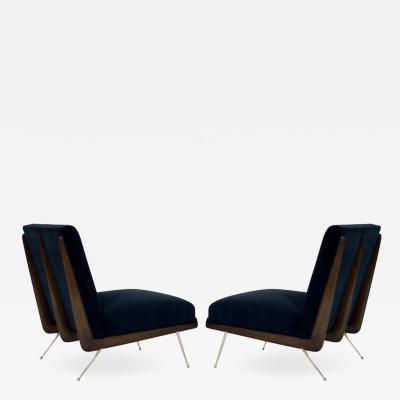 Set of Boomerang Slipper Chairs in the Style of T H Robsjohn Gibbings