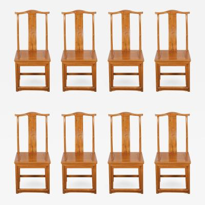 Set of Eight Chinese Dining Room Chairs in Ming Style