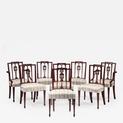 Set of Eight Federal Dining Chairs