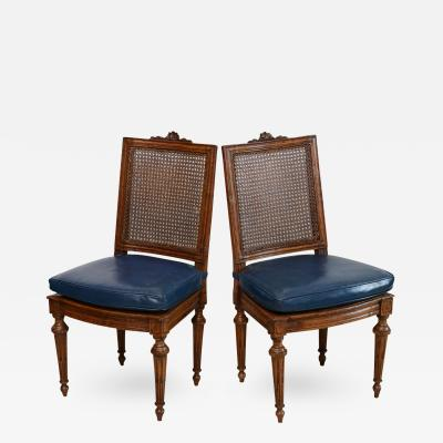 Set of Eight Louis XVI Beechwood Dining Chairs Late 18th Century