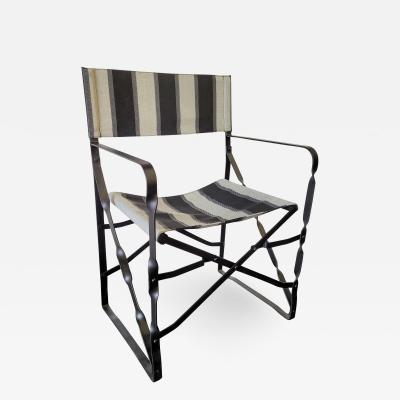 Set of Eight Outdoor Folding Directors Chairs