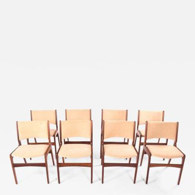 Set of Eight Teak Dining Chairs Denmark