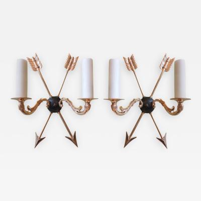 Set of Four 19th C French Bronze Dor Sconces