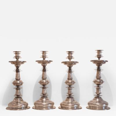 Set of Four Altar Candlesticks