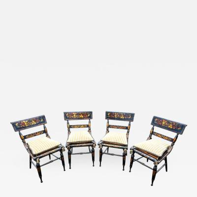 Set of Four American Fancy Chairs Baltimore Circa 1820s