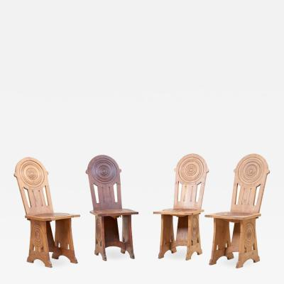 Set of Four Avantgarde Art Deco Chairs France 1930s