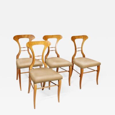 Set of Four Biedermeier Side Chairs