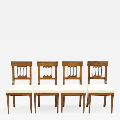 Set of Four Biedermeier Side Chairs c 1810 20