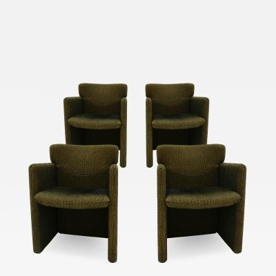 Set of Four Chairs Designed by Progetti Tecno