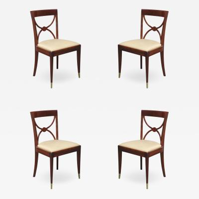 Set of Four De Coene Fr res Art Deco Side Chairs